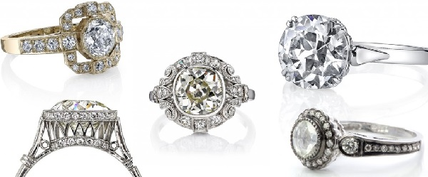 old world style engagement rings